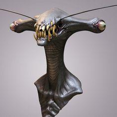 Jordu Schell / Schell Sculpture Studios - Alien Head by Aeron Alfrey, via Flickr