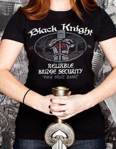 J!NX : Black Knight Bridge Security Women's Tee - Clothing Inspired by Video Games & Geek Culture