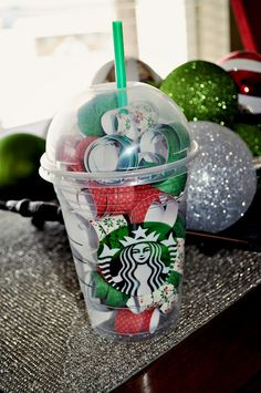 Starbucks Gift Card Holder Idea. Maybe just put a gift card in one of the red cups.