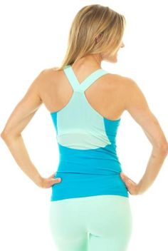 e0f385bcc77856 Glyder Sweat It Out Tank in Emerald - Mint Yoga Tank