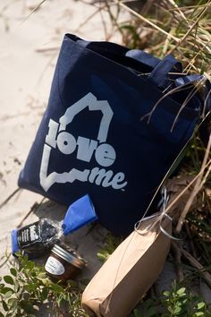 Maine Wedding Favors - Custom LoveME tote bags we printed for a Scarborough, Maine wedding. Love Maine! #LoveME