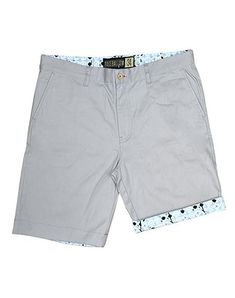 7aaa4af02693b Flag Man Cotton Twill Shorts - Grey Man Men, Cotton Spandex, Casual Shorts,