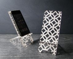 iPhone Stand Docking Station For iPhone 4, 4S or 5 - Hollywood Regency Retro Pattern on Etsy, $24.00