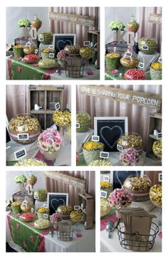 Rustic Chic Wedding Popcorn Bar Follow more of this trend at http://www.arizonaweddings.com/