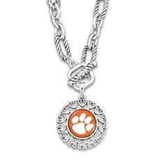 Clemson Tigers Silver Tone Necklace With Round Logo Charm... https://www.amazon.com/dp/B01I77L4HU/ref=cm_sw_r_pi_dp_x_eW2mybDS7GQGK