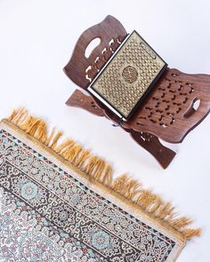 The key to Jannah. Find our beautifully patterned prayer mats Quran stands and various Quran sizes in stores! Al Quran Al Karim, Quran Karim, Prayer Mat Islam, Islamic Prayer, Quran Book, Islamic Quotes Wallpaper, Islam Hadith, Book Stands, Modest Fashion