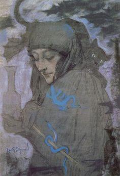 Lucien Lévy-Dhurmer The sorceress.