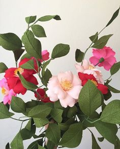 406 best handmade artificial flowers images on pinterest in 2018 leafy arrangement for a photoshoot papetal mightylinksfo
