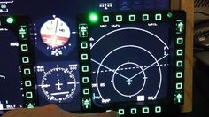 Falcon 4 BMS triplescreen with gauges and MFDs on fourth screen ...