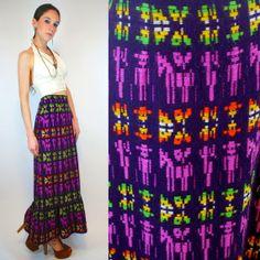 Vintage 70s PERUVIAN Llama Embroidered Skirt. by BluegrassVoodoo, $98.00