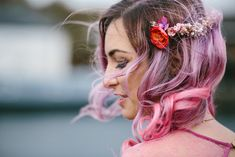 A bride in a pink dress, bridesmaids in outfits covered in flamingos, a warehouse venue decked out in colourful DIY decor, a ceremony conducted by the bride's father... This wedding is just - wow