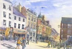 The Bigg Market Newcastle Signed limited edition mounted print