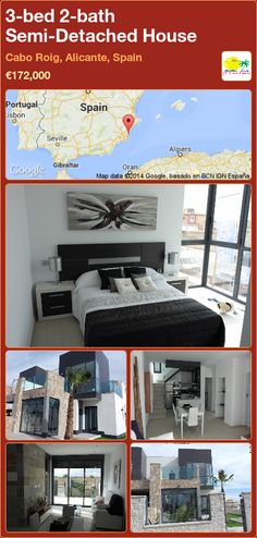 Semi-Detached House for Sale in Cabo Roig, Alicante, Spain Semi Detached, Detached House, Portugal, Alicante Spain, Cabo, Villa, Bedroom, Room, Terraced House