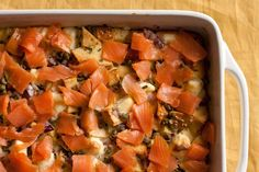 Smoked Salmon and Bagel Breakfast Casserole