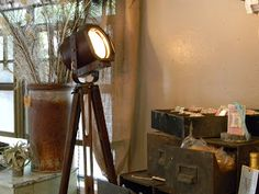 Mike's new tripod floor lamp with theater spot light  http://www.housewrenaustin.com/