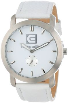 Women s watches White watches Rockwell Time Unisex CT103 Cartel White  Leather Band White Dial Watch ed0ae24886ae