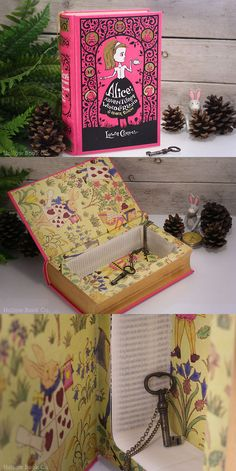 Alice's Adventures in Wonderland by HollowBookCo https://www.etsy.com/listing/158097956/hollow-book-safe-alice-in-wonderland