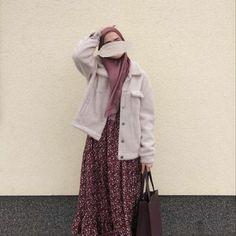 Muslim Fashion, Modest Fashion, Hijab Fashion, Korean Fashion, Fashion Outfits, Casual Hijab Outfit, Hijab Chic, Casual Outfits, Hijab Style Tutorial