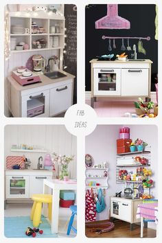 IKEA Duktig play kitchen makeover - surround them with fun things...DONE