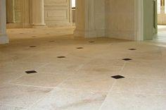 French Limestone Flooring - contemporary - floors - houston - by Maiden Stone Inc.