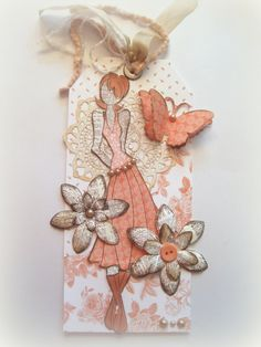 Tag, Book Marker, Julie Nutting Doll, Friendship Tag, Prima Mixed Media Doll Stamp