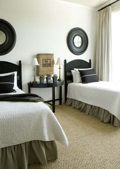 TidbitsTwine Guest Bedroom Inspiration 8 Guest Bedroom Inspiration Amazing Twin Bed Rooms} would love to do this in an extra room for mattie! Home Bedroom, Master Bedroom, Bedroom Decor, Bedroom Photos, Twin Bedroom Ideas, Tan Bedroom, Twin Room, Budget Bedroom, Bedroom Furniture