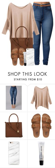 """""""Fire and Desire"""" by imwhit ❤ liked on Polyvore featuring MICHAEL Michael Kors, Billabong and Bobbi Brown Cosmetics"""
