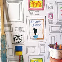 Taylor and Wood Frames Wallpaper - colouring in wall decor