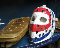 Ken Dryden mask and blocker | Montreal Canadiens | NHL | Hockey