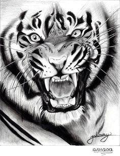 tiger drawing by Johnny-Designer on DeviantArt Tiger Tattoo Design, Tattoo Design Drawings, Tattoo Designs, Animal Sketches, Animal Drawings, Tiger Face Drawing, Tiger Face Tattoo, Drawing Drawing, Tatoo Manga
