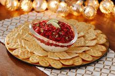Cranberry-Cilantro Salsa with Cream Cheese Spread