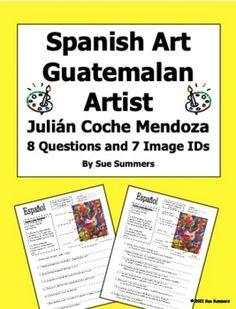 Spanish Art - Guatemalan Artist Julián Coche Mendoza 8 Questions Spanish Family Vocabulary Practice, Grammar And Vocabulary, Guatemalan Art, Hispanic Art, Hispanic Heritage Month, Spanish Art, Foreign Language, Mendoza, Learning Spanish