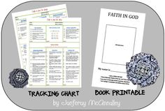 Faith in God Tracking Sheets and Book Printable