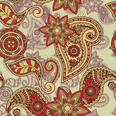 Stock vector of 'vector seamless hand drawn paisley pattern, clipping masks'