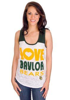 """Baylor Women's """"Love Baylor Bears"""" Tank Top"""