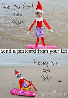 TPcraft.com: Send a Postcard from your Elf {Elf on the Shelf} - free Elf vacation pictures you can download