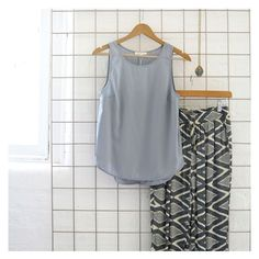 Need a casual outfit? St Frock has you sorted! Get the 'Essential Basic Tank in Grey' and the 'Chasing Kate Gabriella Lounge Pants in Diamond Print'! Both available online now at shop.stfrock.com.au #stfrock #style #ootd #chasingkate