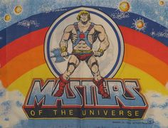 Vintage Masters of the Universe He-man standard pillowcase