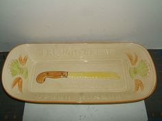 "Los Angeles potteries ""French Bread"" tray"