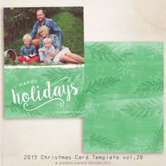 NEW 2015 Christmas Card Templates vol.28 7x5 by 7thavenuedesigns