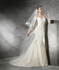TIBET - Vestido de novia moderno de manga larga   Pronovias