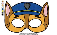 Mask Paw Patrol 02 Embroidery Design 2 Sizes and 10 Formats  This listing is for a digital file to be embroidered. You will need an