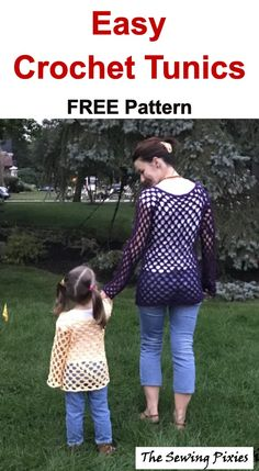Easy Crochet Tunic Free Pattern - Agnes Creates - - This easy crochet tunic free pattern is perfect fall project for beginners. It includes free print friendly PDF pattern and step- by- step instructions. Crochet Geek, Knit Crochet, Crochet Hats, Irish Crochet, Crochet Sweaters, Freeform Crochet, Double Crochet, Single Crochet, Crochet Tunic Pattern