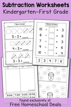 Phenomenal first grade phonics and reading lets talk about math free k 1 subtraction worksheets instant download fandeluxe Images