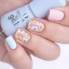 Here's the best 20 Easter nail designs created by you, the super talented SoNailicious family! From Negative Space Easter Egg nails to Neo Easter manicure. Easter Nail Designs, Easter Nail Art, Nail Art Designs, Nails Design, Flower Nail Designs, Diy Nails, Cute Nails, Gel Nagel Design, Floral Nail Art
