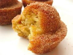 Cinnamon Sugar crusted coffee cake muffins...the claim...WARNING: They taste like a donut. Be prepared for euphoria.