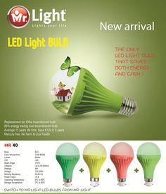 Save energy and save money with Mr.Light LED bulbs