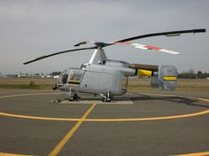 The Kaman HH-43 Huskie was a helicopter with intermeshing rotors used by the United States Air Force, the United States Navy and the United States Marine Corps from the 1950s until the 1970s. It was primarily used for aircraft firefighting and rescue in the close vicinity of air bases, but was later utilized as a short range overland search and rescue aircraft during the Vietnam War. It featured unusual counter-rotating Rotors.