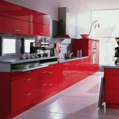 I'm definitely torn on the cabinets but I know I want RED and black or CHROME not brushed silver hardware.