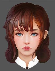 3D 얼굴 Lowpoly_Girl ...